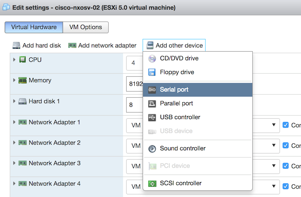 Installing the Cisco NX-OSv on VMWare ESXi 6 5 | www